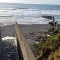 Heavy runoff from recent storms- Short Beach