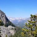View towards Stuart Lake with Dudley Spire in the middle- Colchuck Lake Trail
