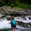 Rapids after lower falls- Twin Falls Hike via Homestead Valley Trailhead