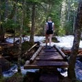 A bridge across a small stream- Olallie Lake