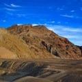Golden mountain from the sunset- Artist's Palette via Artist's Drive
