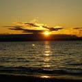 Initial sun set- Alki Beach