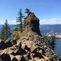Eagle Point, truly the highlight of the hike- Indian Point Hike via Herman Creek Trailhead