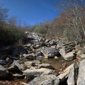 area of the stream/falls at the end of the stairs- Graveyard Fields