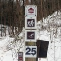 Detailed signage clearly indicates a trail's permissions.- Green Lakes Perimeter Loops