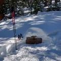 Buried Trail signboards- Long Lake, Lake Isabelle + Pawnee Pass