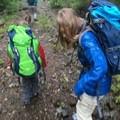 Kids testing their new packs- Crabtree Valley Hike