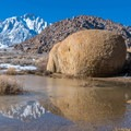lone pine peak from alabama hills- Alabama Hills Rock Climbing