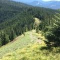 Looking back on the last push to Zig Zag- Burnt Lake + Zigzag Mountain