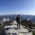 View from Clouds Rest looking to Half Dome.- Half Dome Hike via John Muir Trail