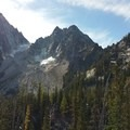Left to right - Dragontail, Colchuck, Argonaut- Colchuck Lake Trail