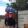 At trail head.- Hermit Trail