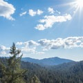 Looking over the Santa Cruz Mountains from Skyline To The Sea Trail- Big Basin Redwoods State Park