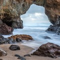 Looking through the arch at Panther Beach- Panther Beach