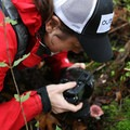 Emily capturing yet another mushroom.- Cape Horn Loop Hike