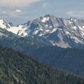 View of West Peak (7,365').- Hurricane Ridge