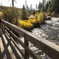 Crossing over Tumalo Creek at Shevlin Park.- Shevlin Park