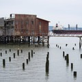 View along the Astoria Riverwalk Trail.- Astoria Riverwalk Trail