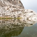 High Sierra granite beside the watering hole at Trail Camp (~12,000')- Mount Whitney Hike via Whitney Portal