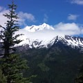 Mt Jefferson from Grizzly Peak's summit.- Pamelia Lake + Grizzly Peak