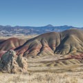 View from the Carroll Rim Trail.- Painted Hills Unit