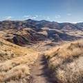 Looking down the Carroll Rim Trail.- Painted Hills Unit