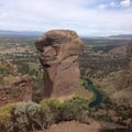 View of Monkey Face from the top of Misery Ridge- Smith Rock, Misery Ridge Hiking Trail