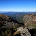 View to Mount St. Helens, Mount Rainier and Mount Adams from Silver Star Summit- Silver Star Mountain via Ed's Trail + Silver Star Trail