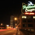 The iconic Portland, Oregon sign- Vera Katz Eastbank Esplanade