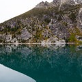 Colchuck Lake's crazy reflection- Enchantment Lakes Thru-Hike