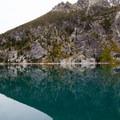 Colchuck Lake's crazy reflection- Enchantment Lakes Thru-Hike