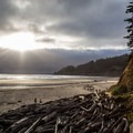 Dusk view at Short Sands.- Short Sand Beach