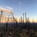 View from Adams to Hood at dusk- Mount Adams, South Climb