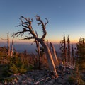 Sunset view from Mount Adams to Mount Hood- Mount Adams: South Climb