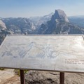 Signage at the Glacier Point lookout- Glacier Point