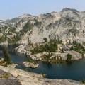 Mountain goats at Robin Lake- Tuck + Robin Lakes