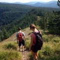 Descending from the top of the ridge. - Burnt Lake + Zigzag Mountain