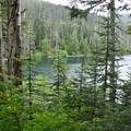 Wahtum Lake at PCT intersection - Eagle Creek Hike to Tunnel Falls