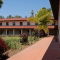 Courtyard in the Spanish Colonial Style.- Old Mission Santa Barbara