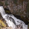View of Undine Falls in the late autumn from the trail.- Undine Falls Via Lava Creek Trailhead