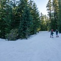 Snowshoeing in.- Clear Lake Butte Lookout
