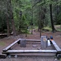 Head of Bowman Lake Campground