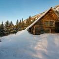 Taft Lodge buried in the snow.- Taft Lodge