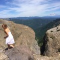 PIcture from the featured photo. Yes, I hiked around mt. st. helens in a dress. - Ape Canyon