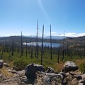 Arriving at Square Lake- Three Fingered Jack Loop