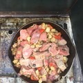 A grand camping meal- Steak and Taters- Olallie Lake Resort