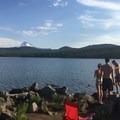 Fishing the lake- Olallie Lake Resort