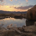 Most amazing sunsets- Travertine Hot Springs