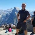 Obligatory selfie in front of Half Dome- Yosemite National Park