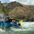 Rafters float through one of the many Class III rapids on the river.- Lower Main Salmon River: Pine Bar to Heller Bar